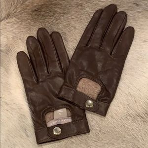 Banana Republic Dark Taupe size S leather Gloves
